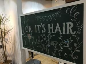 黒板リニューアル! 蒲郡にある美容室・ネイルサロン『らぷち』